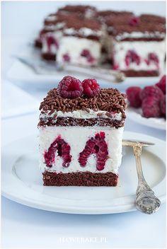 Ciasto z malinami i mascarpone - I Love Bake Brownie Recipes, Chocolate Recipes, Cake Recipes, Dessert Recipes, Cookie Desserts, Sweet Desserts, Sweet Recipes, Bolo Original, Mascarpone Recipes