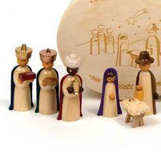Wooden Nativity Set from the Erzgebirge
