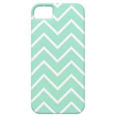 Pastel Mint Chevron Pattern iPhone 5 Case #iphone #iphonecase #iphonecover