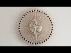 How To Make A Lolly Stick Clock! - YouTube