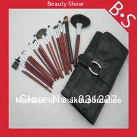 22pcs cepillo profesional del maquillaje , el mejor pincel de maquillaje Set Con Cuero Negro Bolsa