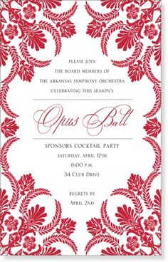 Red Invitations but for a wedding :)