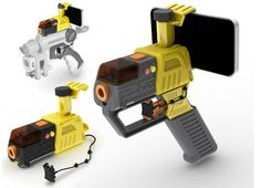 iPhones aren't cool. You know what's cool? Shooting your friends with your iPhone, mounted into a laser blaster.