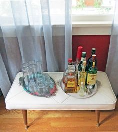 temporary home bar for parties (or year-round)