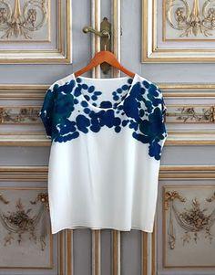 100/% Tela De Algodón Confección fasihion Crafts Magique-Lorena-Azul Marino