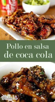 pollo a la coca cola Meat Recipes, Mexican Food Recipes, Chicken Recipes, Dinner Recipes, Cooking Recipes, Healthy Recipes, Pollo Recipe, Pollo Chicken, Good Food