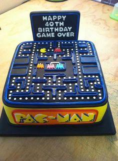 pac man Birthday cake Más