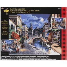 """Plaid Paint By Number Kit 16""""X20""""-Venice At"""
