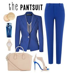 """""""who's the boss"""" by freshdee on Polyvore featuring Balmain, Roland Mouret, Giuseppe Zanotti, Givenchy, Gemelli, Jane Iredale, Thierry Mugler and thepantsuit"""