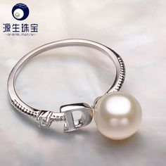 Aliexpress.com : Buy Pearl Jewelry white Freshwater Pearl Ring 100% 925 sterling silver cute rings gift For Women YSETB007 from Reliable gift lamp suppliers on pearls by yuansheng
