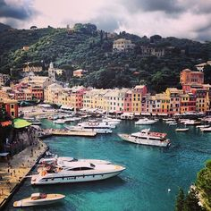Portofino in Genova, Liguria. A small cosy port with amazingly beautiful atmosphere. Spend a relaxing day, walk around, or make a visit on one of the yearly events (check online).