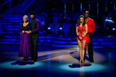 Deborah Meaden and Robin Windsor Face Patrick Robinson and Anya Garnis In The Week 5 Dance-Off Of Strictly Come Dancing 2013