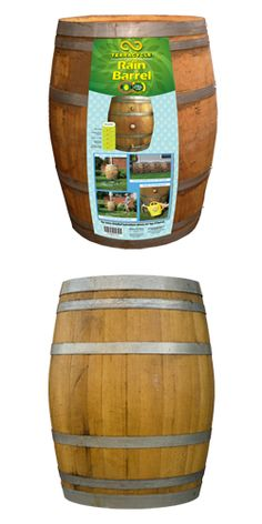 Capture rainwater in this beautiful authentic wine barrel. Plus, it's a great way to conserve water.