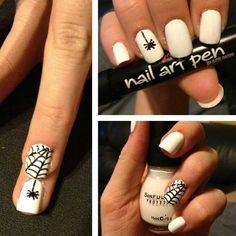 Spidey nails.