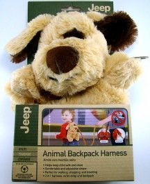 Jeep Plush Beige Puppy Dog Toddler Child Safety Harness Backpack