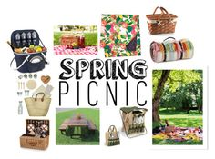 """""""Spring picnic"""" by krystal-sparkle ❤ liked on Polyvore featuring interior, interiors, interior design, home, home decor, interior decorating, ACME Party Box Company, Picnic Time, Thos. Baker and Kate Spade"""