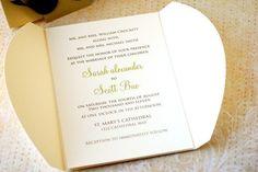 Gatefold Love Bird Wedding Invitations by prettypaperparty on Etsy, $4.50