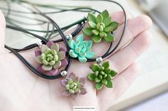 Succulent pendant Cactus jewelry Plants pendant Succulent