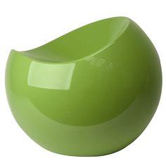 Notre célèbre tabouret de détente ball chair décliné en couleur verte