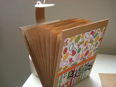 Encadernação com envelopes