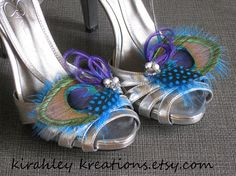 HYDIE in Silver Peacock Shoe Clips with by KirahleyKreations, $42.00