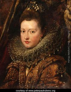 Portrait of Princess Margherita Gonzaga - Peter Paul Rubens - www.peterpaulrubens.org