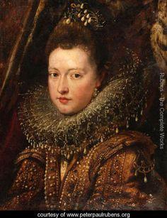 Portrait of Princess Margherita Gonzaga - Peter Paul Rubens - www.peterpaulrubens.org