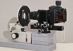 januszj: horizontal setup, using microscope base including the stage for focus and specimen holding.