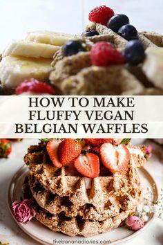 Oats Recipes, Vegan Dessert Recipes, Waffle Recipes, Vegan Breakfast Recipes, Gluten Free Recipes, Sweet Recipes, Vegan Dinners, Desserts, Vegan Recipes