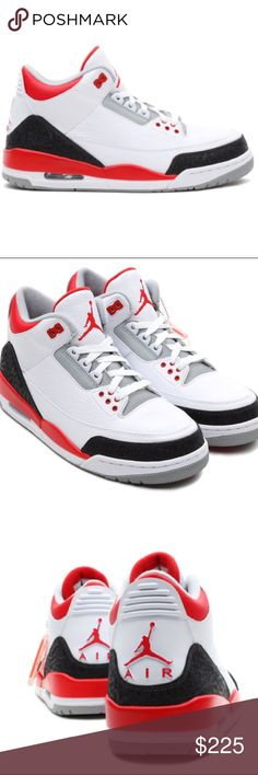 2013 Retro Jordan III Fire Red **New Never been worn** comes in original box. Sz 11. Released in 2013. Forgot that I had these Fire reds in my closet, looking to sell. Missing the jump man hang tag Air Jordan Shoes Sneakers