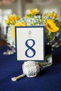 Nautical wedding centerpieces idea