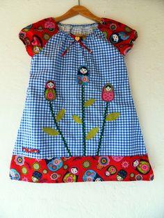 Einschulung Matroschka Kleid Karo Sommerkleid von Zellmann Fashion auf DaWanda.com