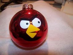Angry Birds ornament. Hahaha! Funny stuff! I want to make some for my niece and her boys!