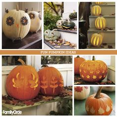 More Pumpkin Decorating Ideas! #halloween #pumpkin #fall #decor #craft