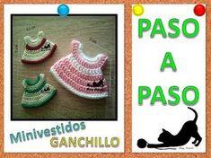 Vestido crochet souvenir - recuerdo para baby shower y bautizos - YouTube