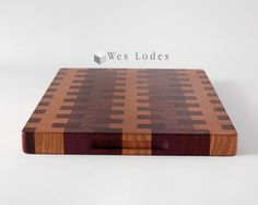 Colorful Wood End Grain Cutting Board Butcher by WesLodesWoodworks