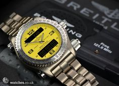 Breitling Emergency Ref E76321. Dated May 2004. Titanium Case and Bracelet. We Buy and Sell Breitling Watches. Contact Us - www.watches.co.uk