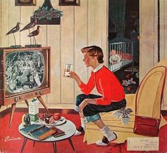 New Year's Eve Babysitter, but when I babysat most people had no TV. I listened to stories on the radio.