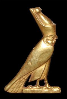 The God Horus in the shape of a falcon, Egypt, Probably New Kingdom about 1550-1069 BC