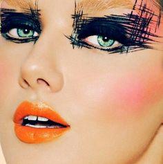 orange makeup - Google Search