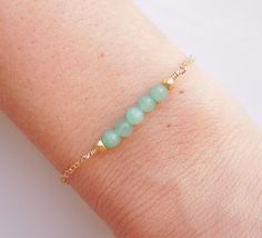 Green Jade Bracelet  A Best Seller by 443Jewelry on Etsy, $30.00