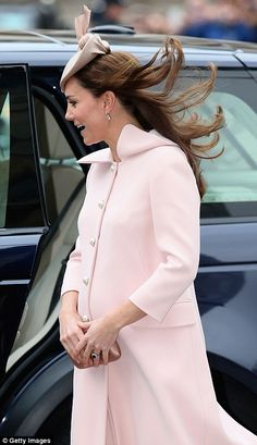 Unruffled: Despite the breeze, the Duchess looked perfectly turned out