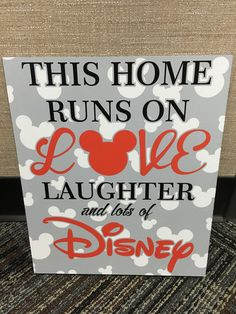 Absolutely Darling Disney Love and Laughter Signs I enjoy sharing my Disney love in my home, especially with unique signs and decor. These Disney Love & Laughter Signs from SignStockpile on Etsy are Disney Wall Art, Disney Sign, Disney Love, Disney Disney, Disney Stuff, Disney Ideas, Disney Canvas, Disney Princess, Disney Themed Rooms