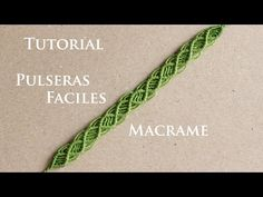 pulseras de hilo faciles y rapidas finas   tutorial macrame - YouTube