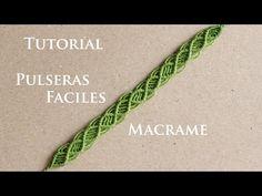 como hacer pulseras de hilo faciles y rapidas - YouTube