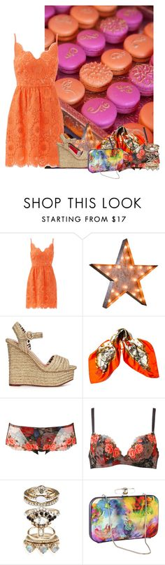 """""""Find me where the wild things are"""" by katleadavis ❤ liked on Polyvore featuring Trina Turk, Vintage Marquee Lights, Charlotte Olympia, Hermès, Accessorize and Coast"""