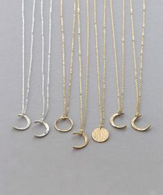 Etsy Dainty Moon Phase Necklaces * #ad Simple Moon Necklace * Crescent Moon, New Moon, Full Moon * 14k Gold F