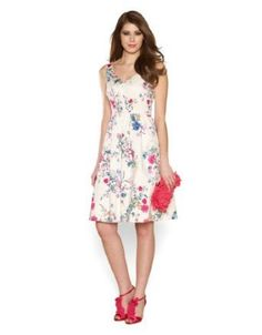 Fleur print prom dress monsoon
