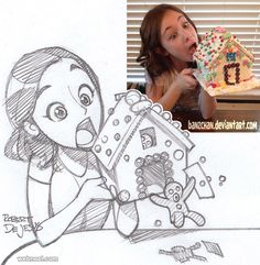 50 Beautiful Photo to Cartoon Drawings by Robert Dejesus - PART 2