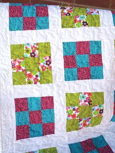 Baby Quilt baby accessories nursery blanket by PegsSewCrafty